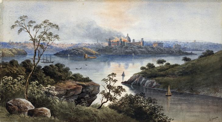 Burning of the Garden Palace