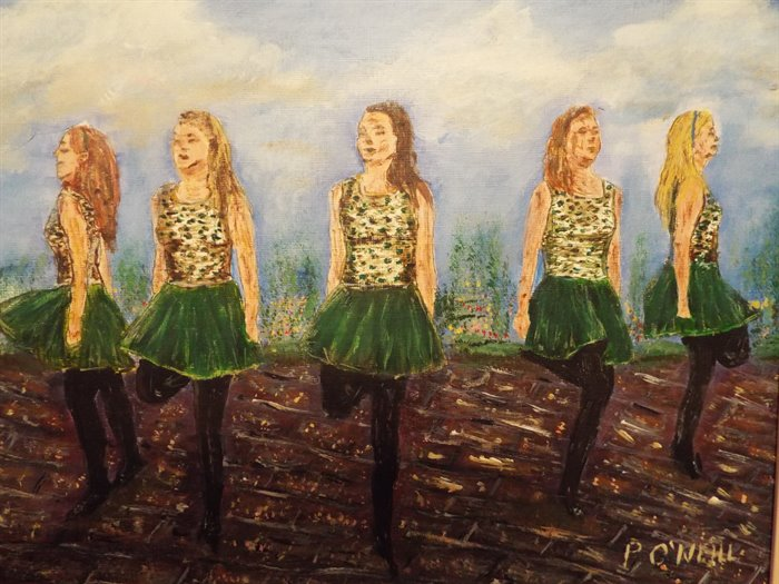 Irish Dancers Painting
